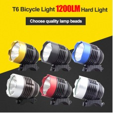 T6 USB Bicycle Front Light Waterproof Bicycle USB Headlight + O Rings 2000 Lumens Optional Colors