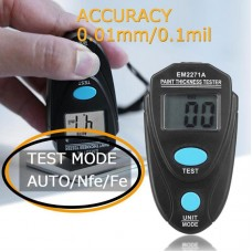 Digital Thickness Gauge Coating Meter FeNFe 0.00-2.20mm for Car Thickness Meter EM2271A