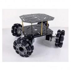 4WD Omni Wheel Car RC Chassis Car 100mm Omni Wheels Steel Board + 37Motors for DIY Toy Car Fans