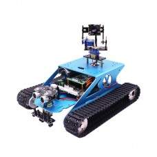 G1 Tank Robot Kit Aluminum Alloy Rover Robot Car Mobile Robot with Camera for Raspberry PI