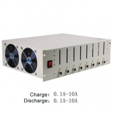 EBC-X 8 Channels 18650 Battery Capacity Tester No Battery Holder Charge & Discharge 10A Aging Test