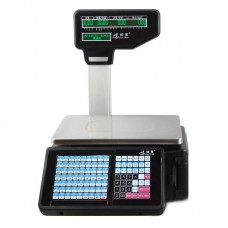 Barcode Label Printing Scale Weight Scale Support USB Scanner Cash Box U Disk Network Data Transmission