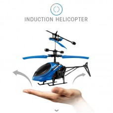 Mini RC Helicopter for Kids RC Drone Infrared Induction LED Light with USB Charging Cable