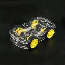 4WD RC Car Chassis Kit with Motors Smart Robot Platform for Arduino RC Avoidance