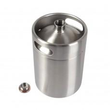 5L 170OZ Stainless Steel Beer Growler Mini Keg Growler Beer Brewing Making Silver
