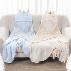 110x140cm Flannel Shawl Thickened Daily Blanket Unicorn Type for Girls Ladies Women
