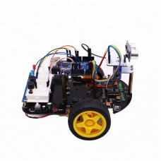 2 In 1 Smart Car Kit 2WD Starter Car Kit for Educational DIY Arduino without Controller Board