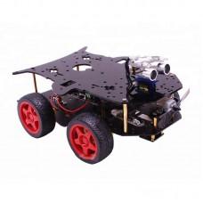 4WD Arduino Smart Car Kit Robot Car Kit w/Ultrasonic Sensor Programmable without Controller Board