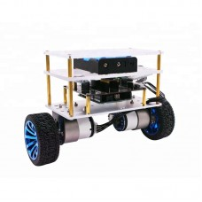 2WD Balance Car for Arduino Robot Car Kit with Acrylic Platform without Controller Board