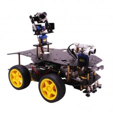 4WD WiFi Robot Car Kit Wireless Video with HD Camera for Raspberry PI 3B+ without Controller Board