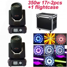 350W 17R Sharpy Beam Moving Head Light Stage Strong Beam Light Flightcase Pack