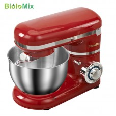 Stainless Steel Stand Mixer 4L Bowl 6 Speeds Food Cream Egg Whisk Blender