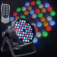 54x3W RGBW Stage Light Projector 8CH Par Light Wedding Party Stage Lighting DJ KTV Concert Light
