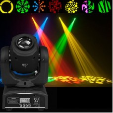 10W LED Moving Head Light 9/11 Channel DMX512 w/Gobos Plate & Color Plate Stage Light Party Disco DJ