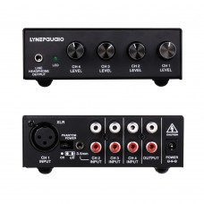5-Channel Stereo Microphone Mixer with Earphone Monitoring B895