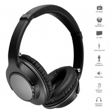 JH-803 Bluetooth Headset Foldable Wireless Headphones w/ FM Radio Stereo 3.5mm AUX In Headphone