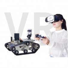 WiFi Video RC Car with 3D CCD Camera VR Video Tank Car Robot for DIY + VR Box + PS2 Controller