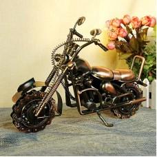 Motorcycle Model Retro Motor Figurine Metal Decoration Handmade Iron Motorbike Prop Home Decor