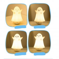 Silicone LED Night Light Clever Ghost Night Lamp Touch Control Tumbler Lamp w/USB Charging Cable