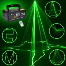 50mW Green Laser Stage Light Laser Beam Light DJ Party Show Light Sound AUTO Remote Control DM-G50