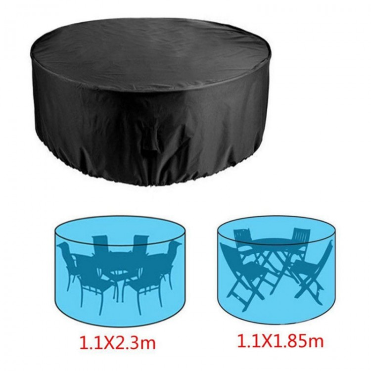 Rainproof Patio Furniture.190t Round Outdoor Furniture Cover Polyester Garden Patio Table