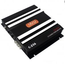 C-236 3800W 12V Car Audio Amplifier 2 Channel Powerful Super Pass Filter Car Amplifier Bass AMP Aluminum