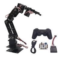 Aluminium Robot 6 DOF Arm Mechanical Robotic Arm Clamp Claw Mount Kit & Servos &Controller for Arduino