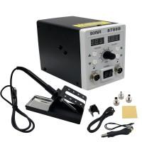 2 In 1 Rework Station Dual Display SMD Rework Soldering Station Hot Air SONER-8786D