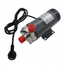 304 Stainless Head Magnetic Drive Pump with Plug 15R Food Grade High Temperature Pump 220V