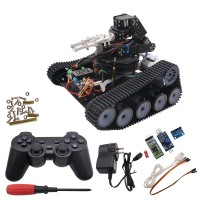 Robot Tank Car Open Source 6DOF Mechanical Arm Tracking Gripping Support PS2 Controller/APP Control