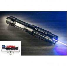 445nm Focus Laser Pointer Pen Blue Beam Visible High Power Box Burn Match 5MW