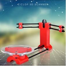 3D Scanner Parts Kit Open Source DIY Advanced Laser Scanner Red Plastic Injection Moldling