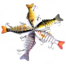 Color Hard Bait Plastic Hard Bait Classic 7 Sections Bait Fish Bionic Bait 10cm