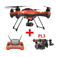 Swellpro Splash Drone 3 Waterproof UAV Drone + PL3 Waterproof Payload Release and 3 Axis Camera Gimbal