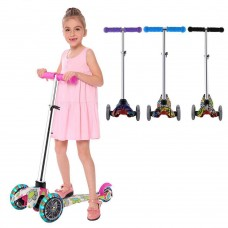 Adjustable Kids Scooter For Children With 3 LED Wheels Fun Design Adjustable Height Hot