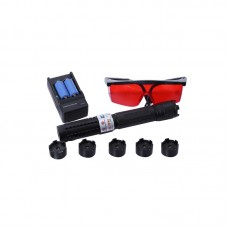 450nm Blue Laser Pointer Pen 1.5W/1500mW Adjustable Focus Visible Beam with Blue Colorful Box