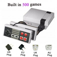 Video Game Console Gaming Player Built-in 500 Classic Games Dual Gamepad with 4 Buttons for NES