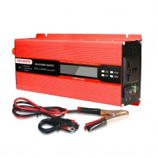 2000W Car Power Inverter DC 24V to AC 110V Solar Power Inverter LCD Display Red