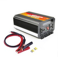 1000W Power Inverter DC 12V-24V to AC 110-220V Black with LCD Screen