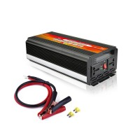 2000W Power Inverter DC 12V-24V to AC 110-220V Black with LCD Screen