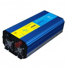 1500W Solar Power Inverter Pure Sine Wave DC 24V to AC 220V Blue with LCD Screen