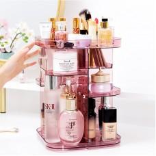 360° Rotating Makeup Organizer Adjustable Multi-tiered Cosmetic Storage Brush Jewelry Holder