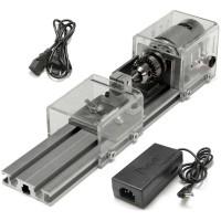 Mini Lathe Beads Machine Wood Working DIY Lathe Polishing Drill Rotary Tool DC 12-24V Standard Type