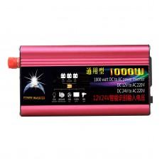 1000W Common Solar Power Inverter Car Power Inverter DC 12V/24V to AC 110V Modified Sine Wave