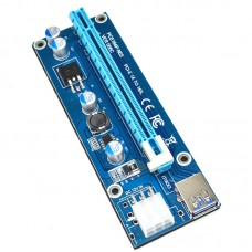 Pci-e Riser Pcie Extender Pcie 16x Extender PCI-E 1X to 16X Cable 6Pin DC-DC Graphics Card Extension