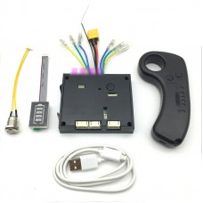 6S 24V Electric Skateboard Controller Longboard + Remote Control Dual Motors ESC Substitute Kit