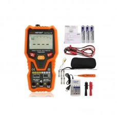Auto Range Digital Multimeter Voltmeter NCV Frequency Backlight Temperature Transistor Test PM8248S