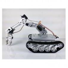 Shock Absorber RC Tank Car WiFi + 7-DOF Robot Arm Gripper + 7pcs MG996R Servos Smart RC Robot Kit TS100
