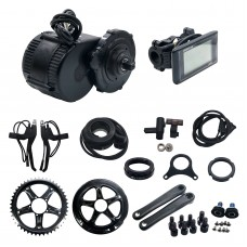 Bafang/8Fun BBS02 36V 500W Mid-Drive Motor E-Bike Conversion Kits With Integrated Controller & C961 LCD Panel
