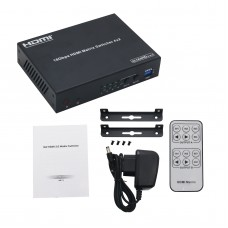 A6 HDMI-B42A 18Gbps 4x2 HDMI 2.0 Matrix Switcher Routing Four HDMI Sources to Two HDMI Displays